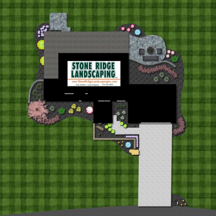 Landscape Planting Bed & Patio Design in Goshen & Middlebury